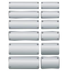 Steel plates with screws vector