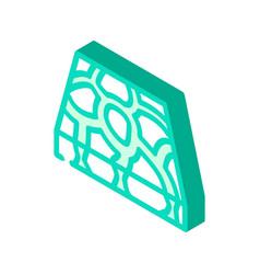 Stone floor isometric icon vector