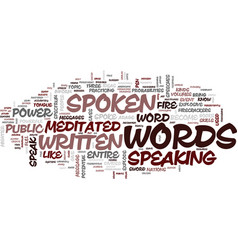 The power of the spoken word text background word vector