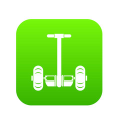two wheeled battery powered vehicle icon digital vector image