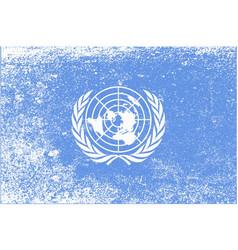 United nations flag grunge vector
