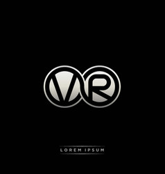 Vr initial letter linked circle capital monogram vector