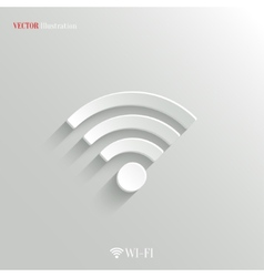 Wi-fi icon - white app button vector