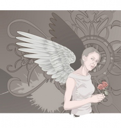 Winged woman vector