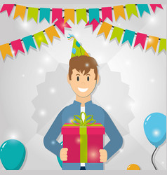 young man in party vector image