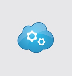 Blue Settings icon vector image vector image