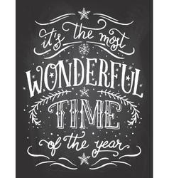Christmas chalkboard printable vector image