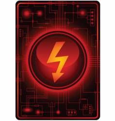 energy sign microchip vector image vector image