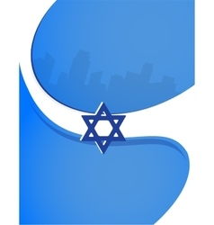 Israel independence day poster design vector image vector image