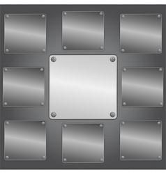 metal plates vector image vector image