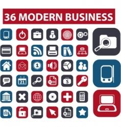 modern business buttons vector image