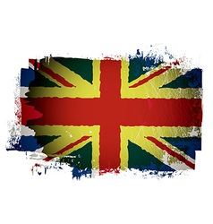 Old british flag vector image