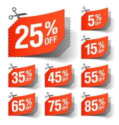 Sale coupons vector image vector image