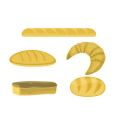 bakery products in flat style vector image vector image