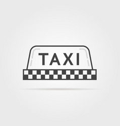 linear simple taxi sign vector image