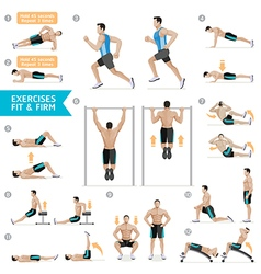 Man workout fitness aerobic and exercises vector image vector image