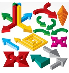 Set of Isometric Arrows and Design Elements vector image vector image