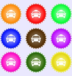Taxi Icon sign Big set of colorful diverse vector image