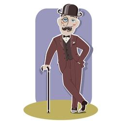 Vintage gentleman vector image vector image