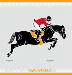 Athlete rider vector image vector image