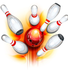 Bowling game top view vector image