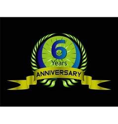Celebration Anniversary golden laurel wreath 6 ye vector image vector image