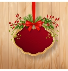 Christmas Sign Board vector image vector image