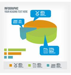 infrastructure information in piechart infographic vector image