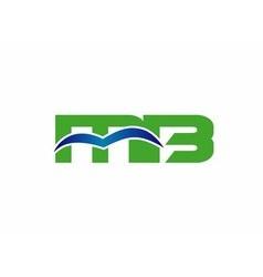 Letter M and B logo bm logo vector image vector image