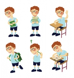 student boy vector image vector image