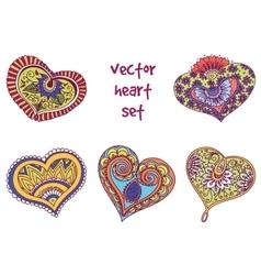 tattoo henna element set vector image vector image