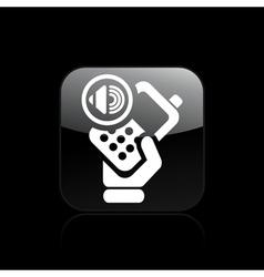 audio phone icon vector image