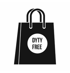 Duty free shopping bag icon simple style vector image vector image