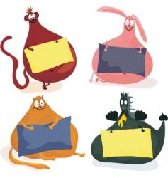 fat animals vector image vector image