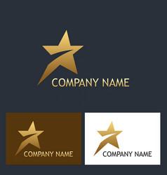 golden star speed company logo vector image vector image