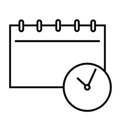 meeting diary icon vector image vector image