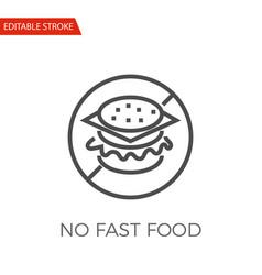 no fast food icon vector image vector image