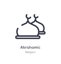 Abrahamic outline icon isolated line from vector