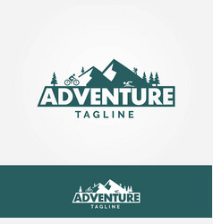 adventure mountains logo vector image