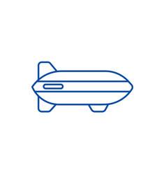 aerostat line icon concept aerostat flat vector image