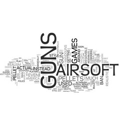 airsoft guns text word cloud concept vector image