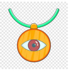 Amulet against evil eye icon cartoon style vector