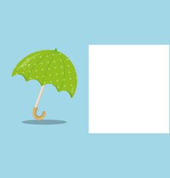 April showers green umbrella 05 vector