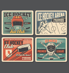Arena rink ice hockey gear and players vector