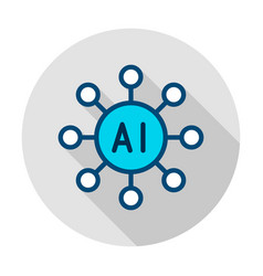 Artificial intelligence circle icon vector