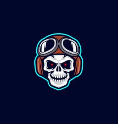 Biker skull vector