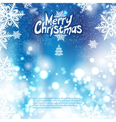 Blue Christmas bokeh background vector image