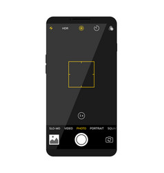 camera screen phone mobile interface app vector image
