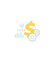 Cost optimization financial icon in flat style vector