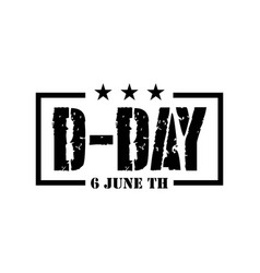 D-day logo template design vector